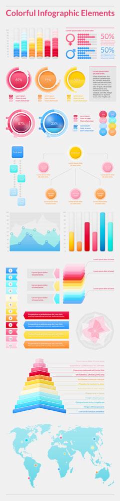 Исходник разноцветной инфографики