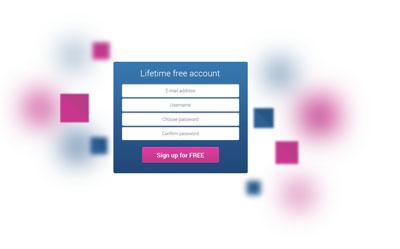 Исходник формы регистрации, создания аккаунта