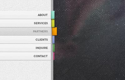 Исходник закладок-меню для сайта