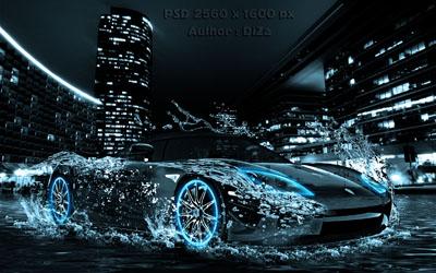 Исходник автомобиля в воде