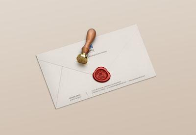 Исходник конверта с сургучной печатью