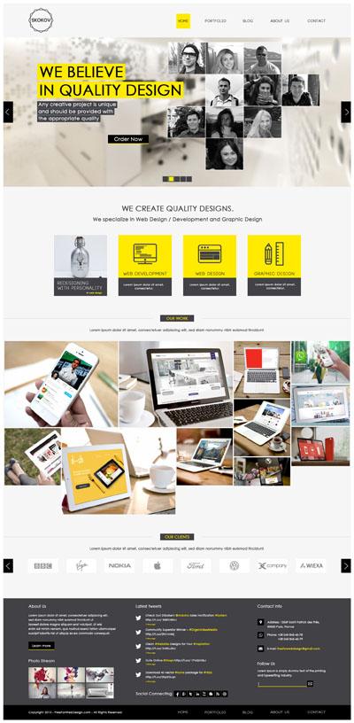 Макет бизнес-сайта