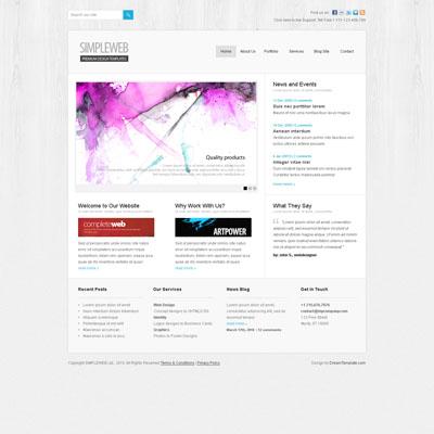 Легкий макет сайта на светлом фоне