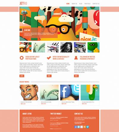 Макет сайта оранжевого цвета