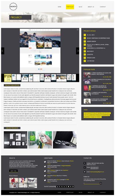 Макет двухколоночного сайта