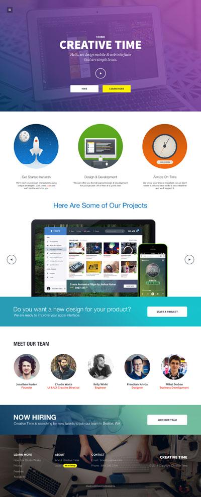 Макет сайта веб-студии