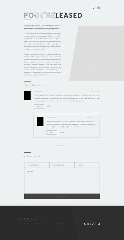 Макет сайта в стиле минимализим