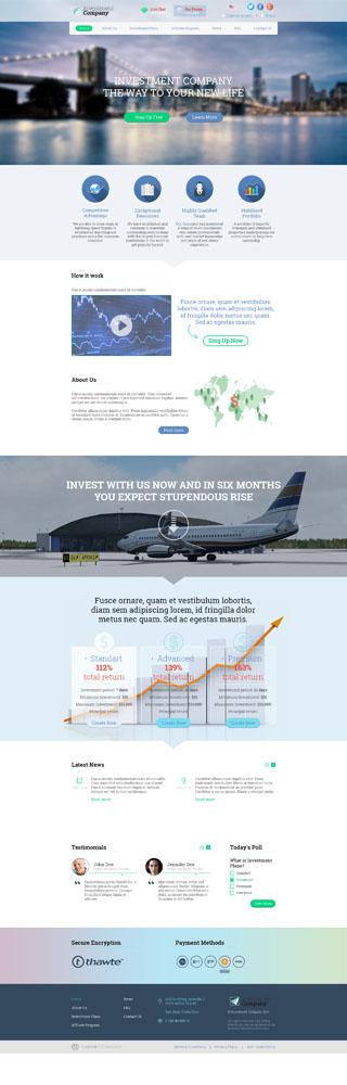 Макет сайта инвестиционной компании
