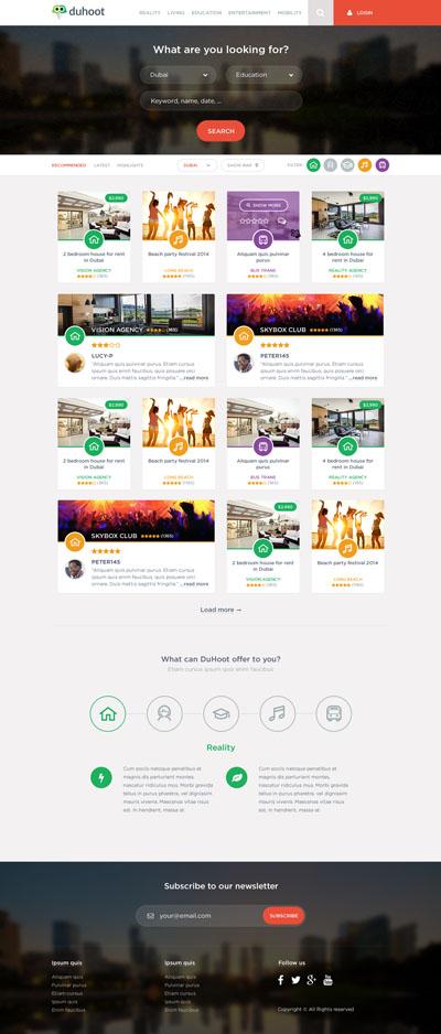Макет сайта-блога или новостного портала