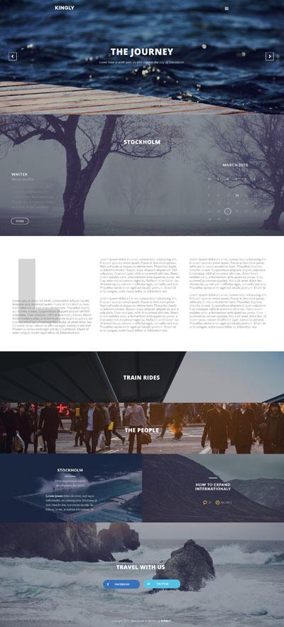 Красивый макет сайта с фотографиями на фоне блоков