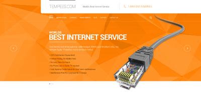 Макет сайта интернет услуг