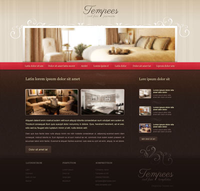 Макет сайта аренды квартиры, отеля, гостиницы