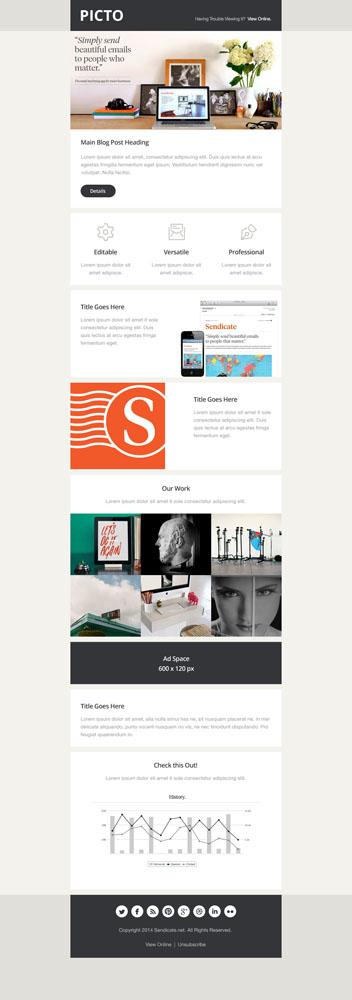Светлый макет сайта компании или студии