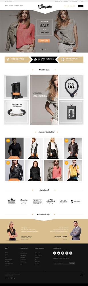 Макет сайта магазина по продаже женской брендовой одежды