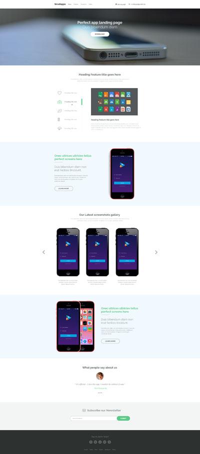 Макет промо сайта приложения