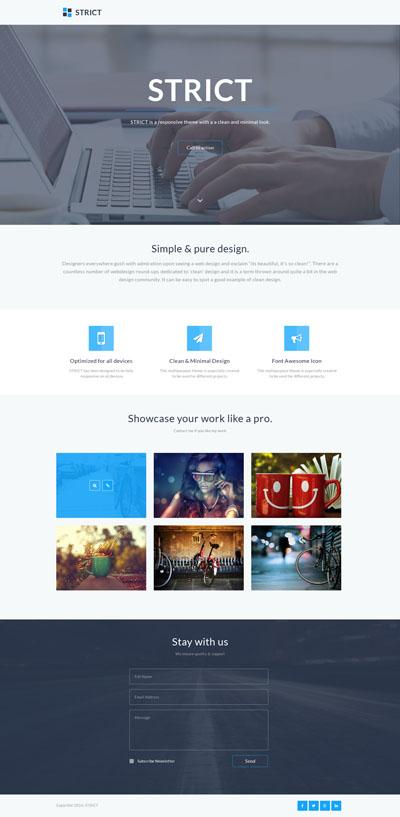 Макет простого сайта компании в стиле Flat