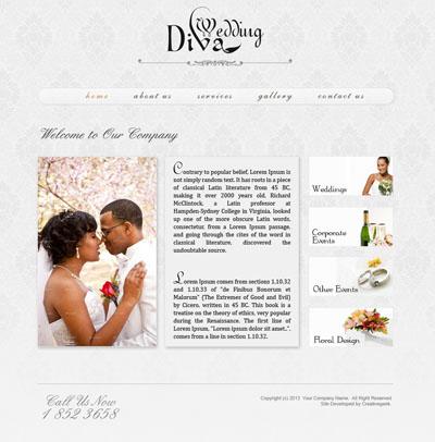 Макет свадебного сайта