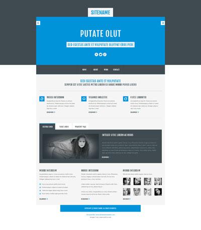Макет легкого сайта компании