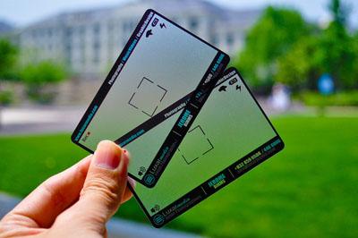 Визитка прозрачная для фотографа