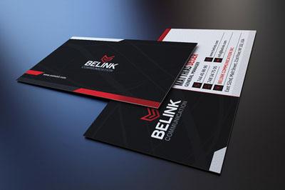 Классическая черно-белая визитка