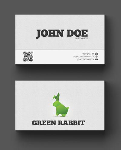 Визитка с кроликом