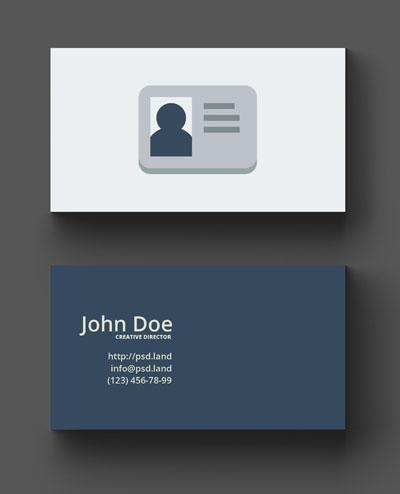 Макет визитки с иконкой социальной сети