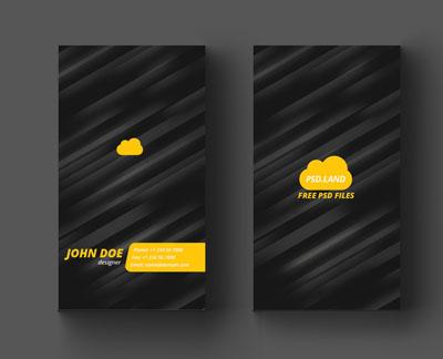 Макет визитки с фоном в полоску