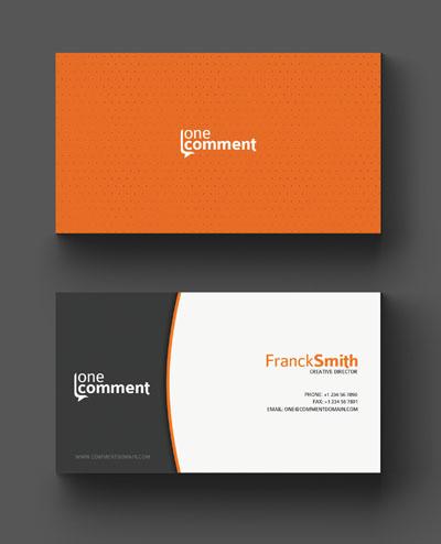 Макет визитки в стиле апельсина