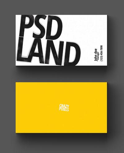 Макет визитки с большим логотипом