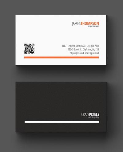 Макет визитки серо-белого цвета