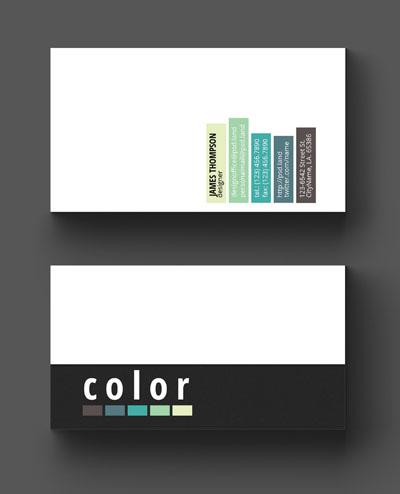 Макет визитки с контактами на разных фонах