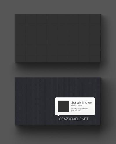 Макет визитки с изображением, разделенным на сегменты