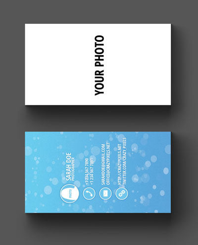 Макет визитки для вставки фото