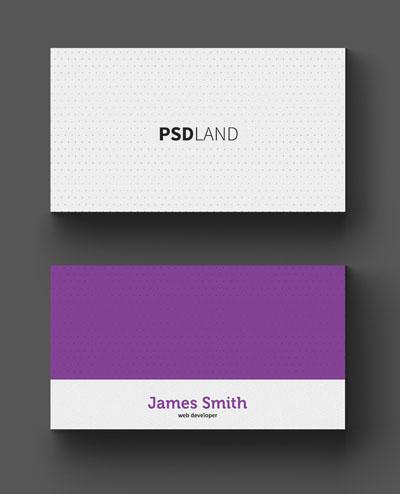 Макет визитки с перфорированным фоном