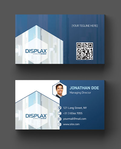 Классический макет визитки бизнес тематики