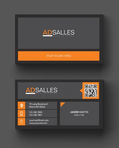 Макет визитки с логотипом