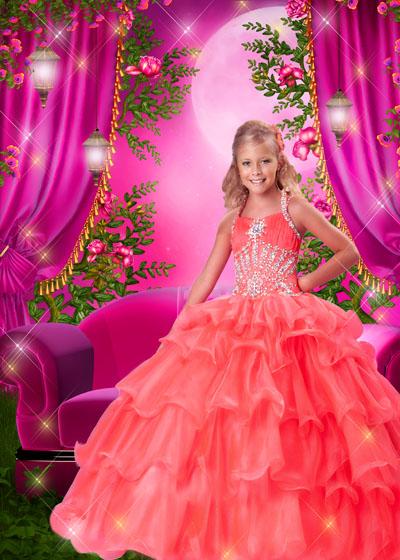 Детский макет с принцессой