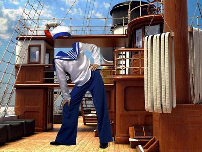Детский шаблон на корабле