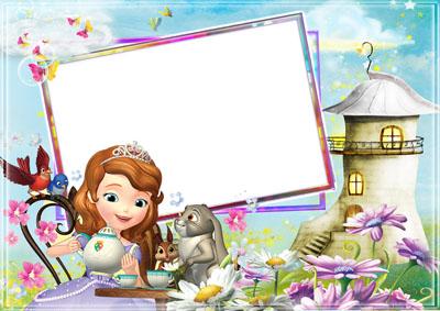 Детская рамка - чаепитие у Алисы
