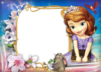 Детский макет с квадратной рамкой и принцессой