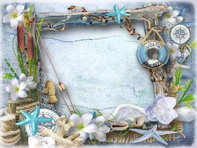 Детская морская рамка