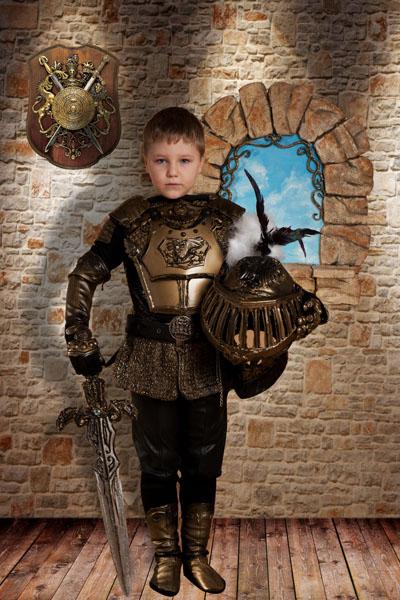 Детский макет с рыцарем