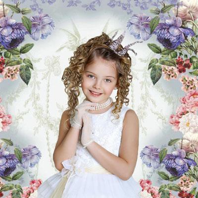 Детский макет для фотомонтажа: принцесса