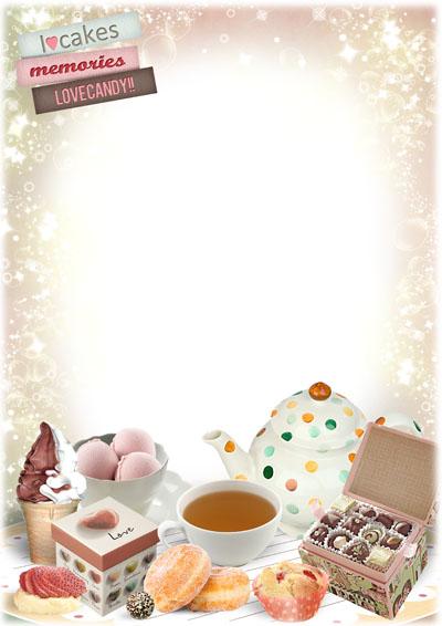 Детская рамка со сладостями