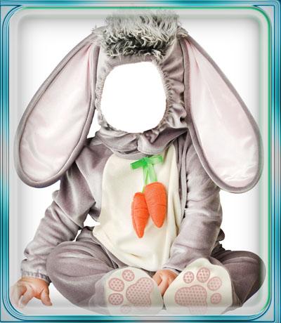 Детский шаблон - кролик