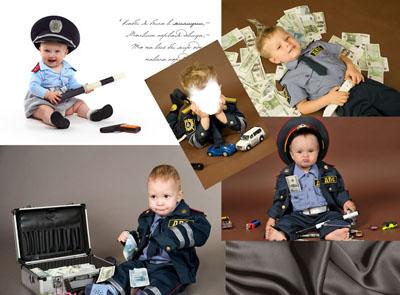 Детский макет: мальчик-полицейский