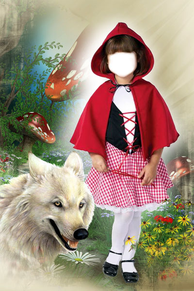 Детский шаблон: Красная шапочка