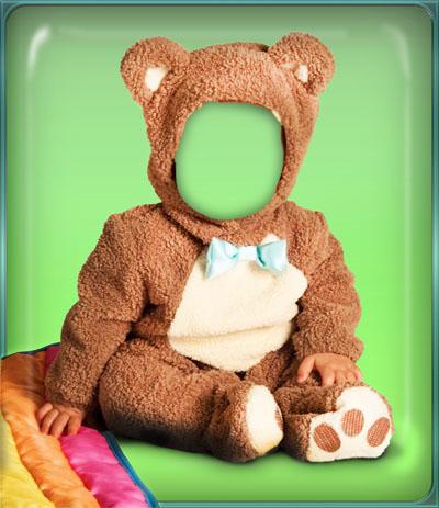 Детский шаблон медвежонок