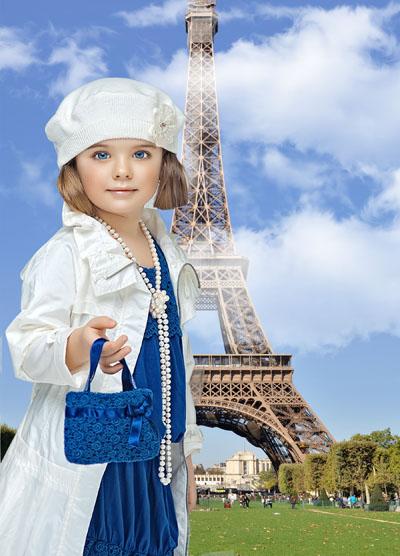 Детский шаблон в Париже