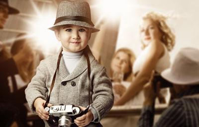 Детский шаблон мальчик фотограф